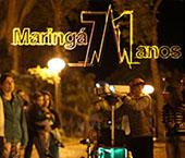 Maringá comemora 71 anos com projeção de desenhos gigantes no Parque do Ingá